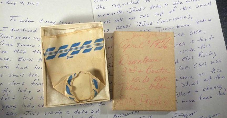 Copo usado por Elvis Presley (Foto: divulgação)