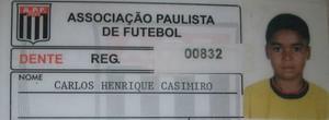 Carteirinha Casemiro quando atleta de base (Foto: Filipe Rodrigues / Globoesporte.com)