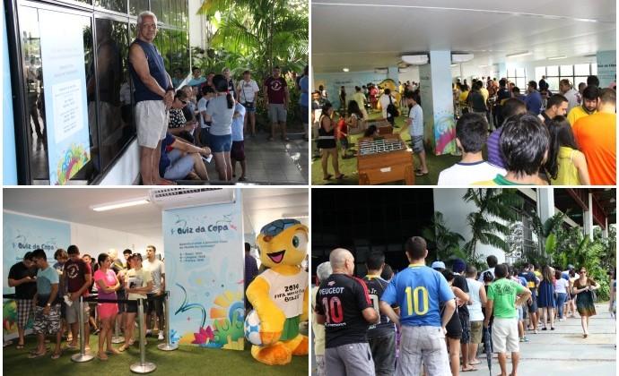 Retirada de ingressos da Copa do Mundo em Manaus (Foto: Isabella Pina)