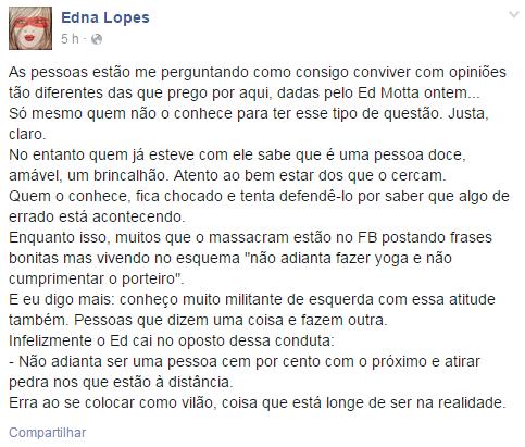 Edna Lopes (Foto: Facebook / Reprodução)