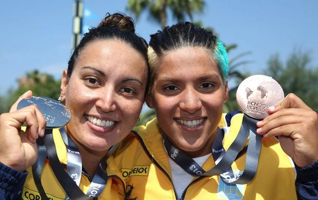 Poliana e Marcela mundial maratona aquática barcelona  (Foto: Divulgação )