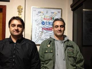 Rodrigo Bandeira, técnico, e Pedro Evandro Francke, preparador físico, União Frederiquense (Foto: Divulgação/União)