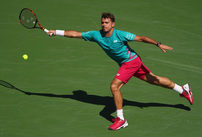 Stan Wawrinka na final contra Roger Federer no Masters 1000 de Indian Wells  (Foto: Clive Brunskill/Getty Images)