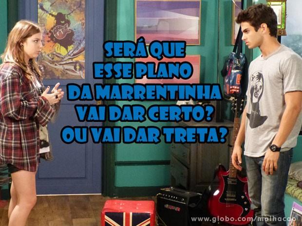 O Gil vai ficar meio com o pé atrás. Mas acaba topando participar do plano da Lia... (Foto: Malhação / Tv Globo)
