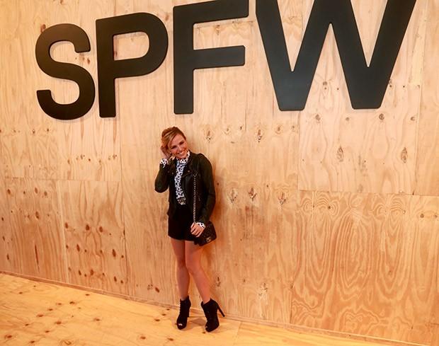 Nathalia Rodrigues no SPFW Inverno 2016 (Foto: Ricardo Leal)