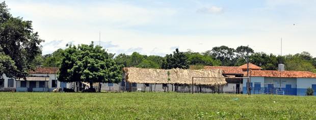 sede administrativa da aldeia umutina  (Foto: Ericksen Vital / G1)