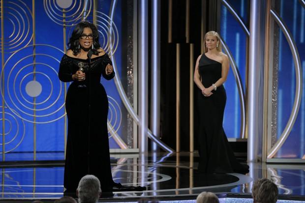 Discurso de Oprah Winfrey no Globo de Ouro 2018 (Foto: getty images)