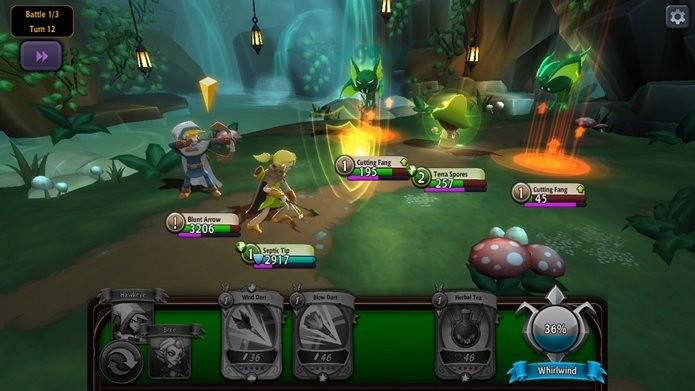 Battlehand mistura jogo de cartas com RPG, sem deixar o visual de lado (Foto: Divulgação / Kongregate)