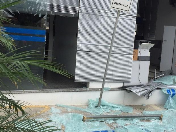 Assalto deixou uma agência bancária de Itupeva destruída (Foto: Arquivo Pessoal)