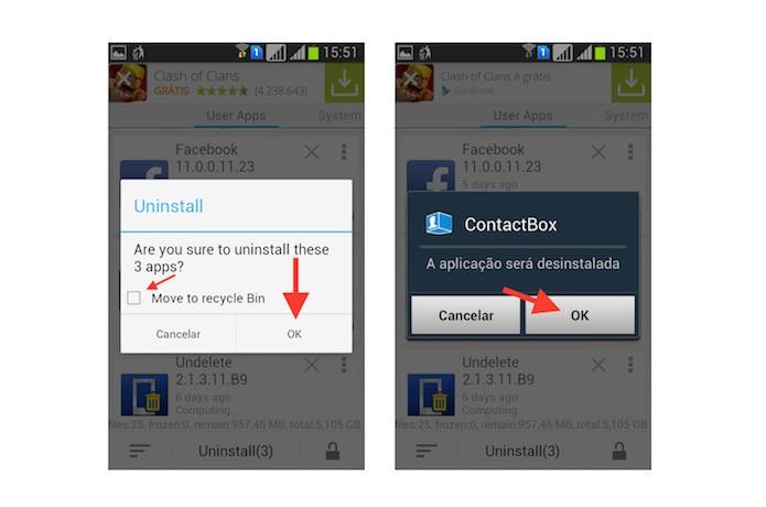 Confirmando a desinstalação dos aplicativos através do Uninstall Master Uninstaller (Foto: Reprodução/Marvin Costa)