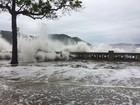 Defesa Civil de Santos descarta nova ressaca na região nos próximos dias