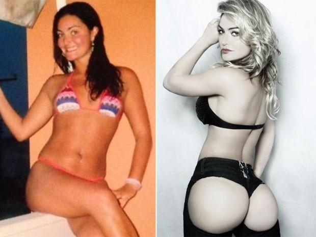 O antes e o depois de Laura Keller (Foto: Divulgação)
