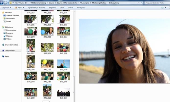 Painel de visualização de arquivos ativado (Foto: Divulgação/Microsoft)