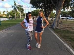 Danielle Silva, campeã do MTV do ano passado, mostra boa forma (Foto: TV Sergiipe)