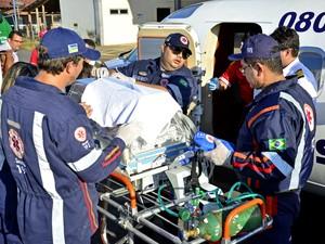 Bebê com cardiopatia foi transferido do Amapá para São Paulo (Foto: Sesa/Divulgação)