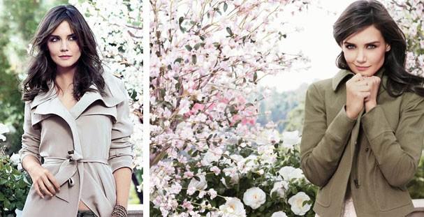 Katie Holmes em mood chique-romântico na campanha de primavera 2011 de Ann Taylor  (Foto: Reprodução)