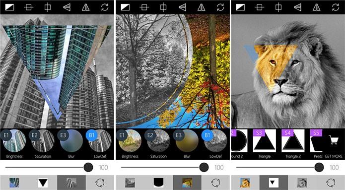 Masks é um editor de fotos para Windows Phone com suporte a diferentes filtros (Foto: Divulgação/Windows Phone Store)