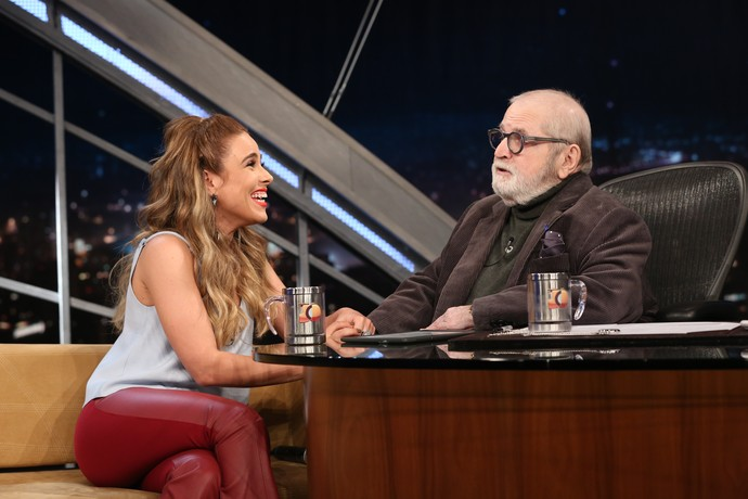Wanessa foi hilária durante sua entrevista (Foto: Carol Caminha/Gshow)