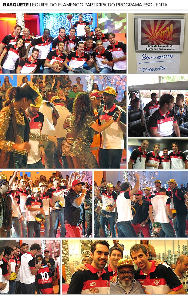 mosaico basquete Flamengo programa esquenta (Foto: Marcello Pires)