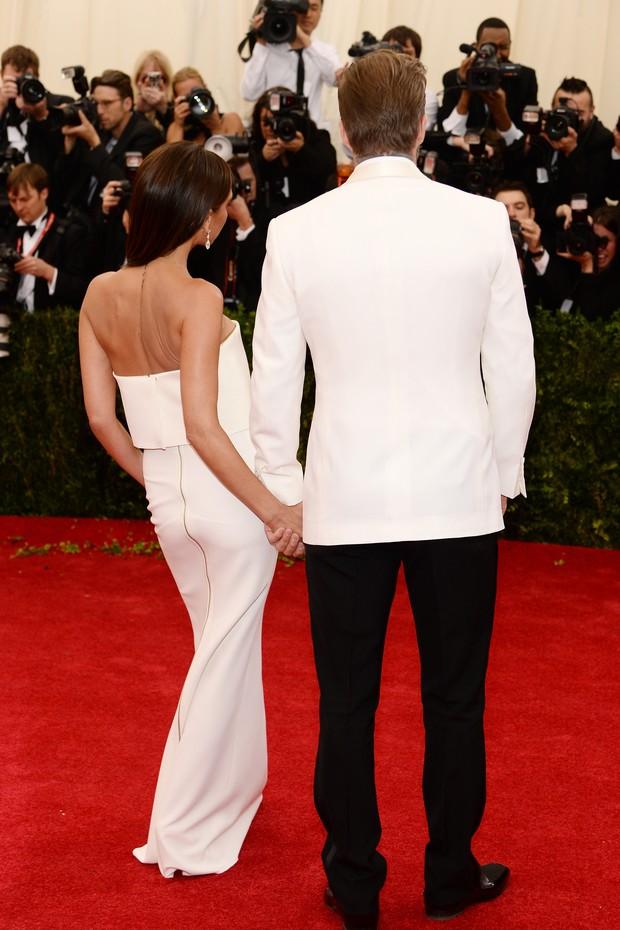 David e Victoria Beckham no MET Gala (Foto: AFP / Agência)