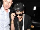 Justin Bieber curte noitada com morena após show