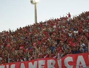 Torcida do América-RN fez festa bonita no Estádio Barretão, em Ceará-Mirim (Foto: Augusto Gomes)
