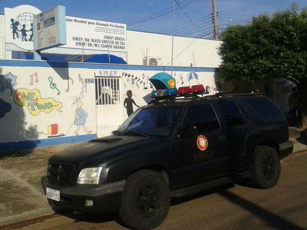 Gaeco fez buscas de documentos na sede de Omep nesta terça-feira (13) (Foto: Osvaldo Nóbrega/ TV Morena)