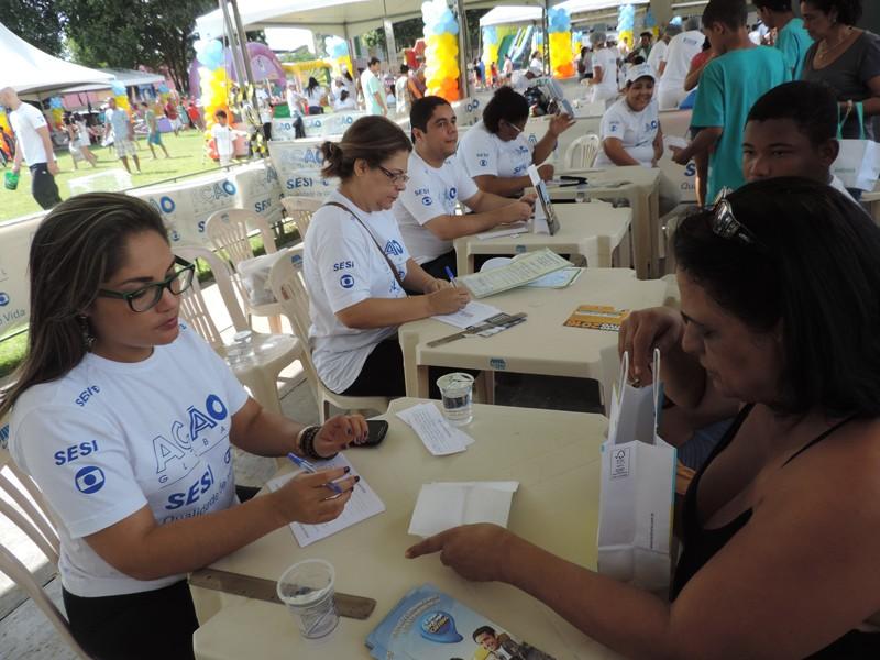 Ação Globa, em Vila Velha (Foto: Carolina Malisek)