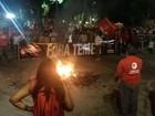Manifestantes protestam contra 'golpe à democracia' no centro do Recife
