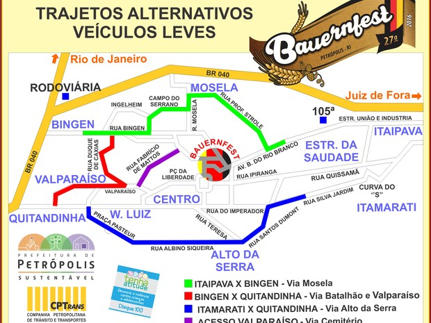Mapa Bauernfest (Foto: Divulgação/PMP)