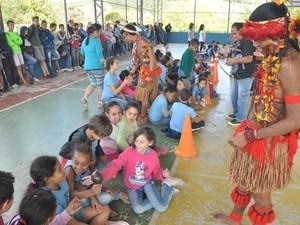 Índios Pataxós Juiz de Fora (Foto: Carlos Mendonça/PJF)