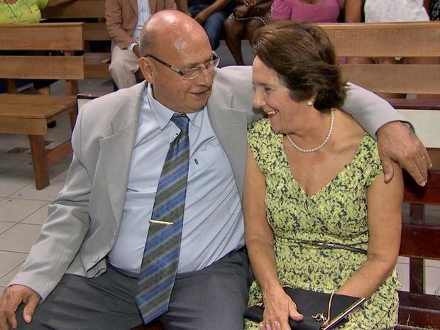 Zenir Féliz da Silva e Maria Luiza Fazolo Silva se reencontraram após décadas separados (Foto: Reprodução/TVCA)