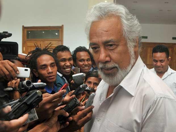 Ex-guerrilheiro Xanana Gusmão renuncia ao cargo de primeiro-ministro do Timor Leste. (Foto: Valentino de Sousa / AFP Photo)