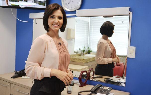 A repórter Tamires Franci apresenta o Estação Agrícola deste domingo (Foto: Divulgação / TV Sergipe)