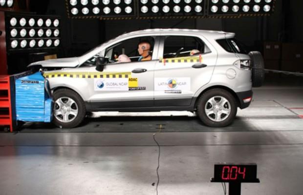 Ford  EcoSport em teste de colisão (Foto: Divulgação)