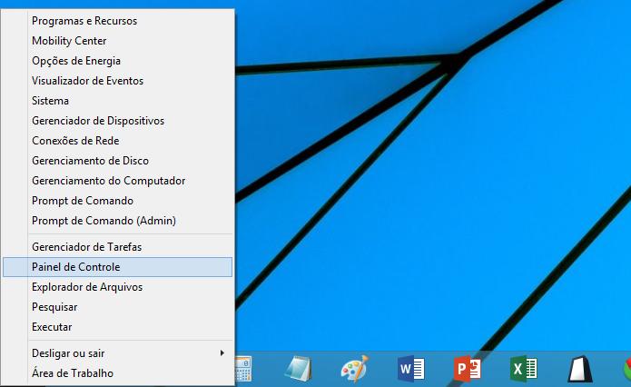 Acessando o Painel de Controle no Windows 8 (Foto: Reprodução/Helito Bijora)