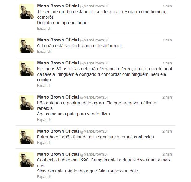 Mano Brown rebate críticas de Lobão (Foto: Twitter / Reprodução)