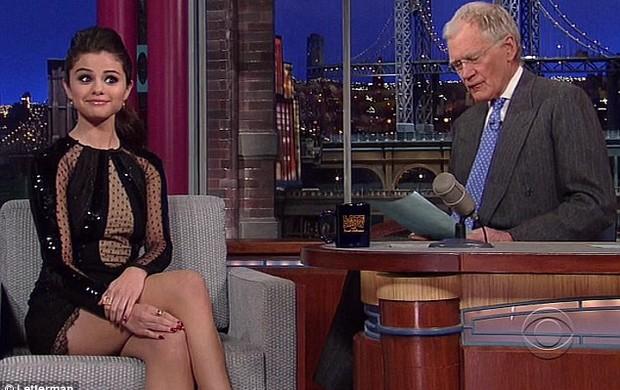 Selena Gomez e David Letterman (Foto: Divulgação)