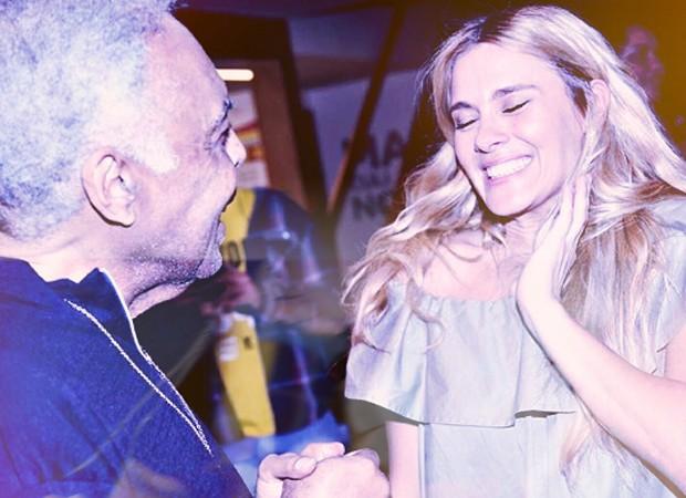 Gilberto Gil e Carolina Dieckmann (Foto: Reprodução/Instagram)