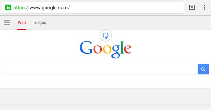 Chrome Beta para Android permite atualizar sites com gesto de puxar (Foto: Reprodução/Paulo Alves)