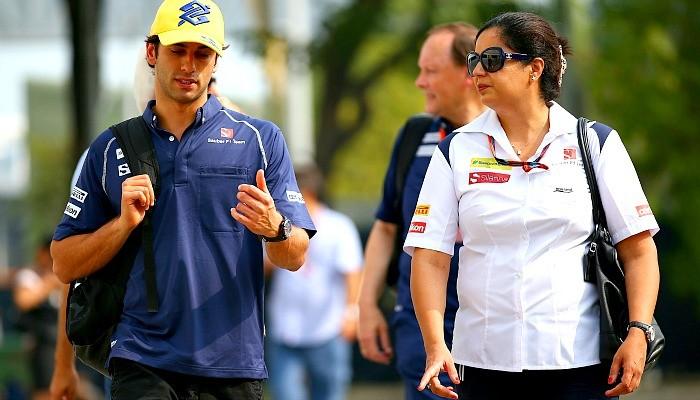 Felipe Nasr e Monisha Kaltenborn