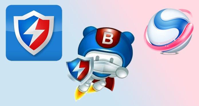 O Baidu Antivírus, O PC Faster e o Spark Browser são os principais aplicativos da gigantes chinesa (Foto: Arte/TechTudo)