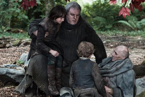 Kristian Nairn e Isaac Hempstead Wright em Game of Thrones (Foto: Reprodução)