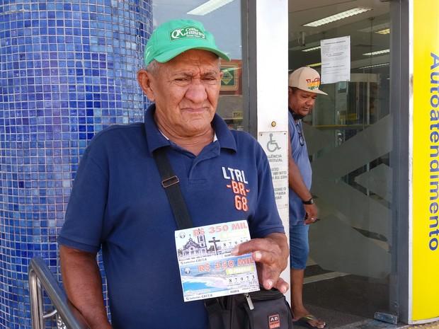 Jesus Silva da Fonseca, de 69 anos (Foto: John Pacheco/G1)
