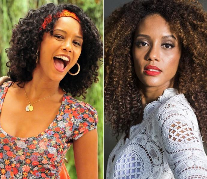Antes e depois da Taís: em 'Cheias de Charme' e em 'Mister Brau' (Foto: TV Globo)
