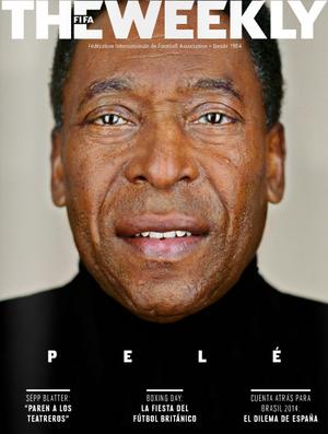 Capa da revista da Fifa com Pelé (Foto: Reprodução)