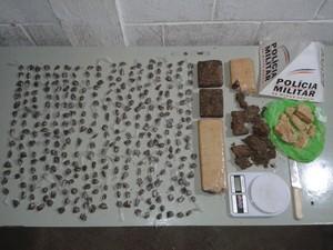 Droga menor Bom Despacho (Foto: Polícia Militar de Bom Despacho/Divulgação)
