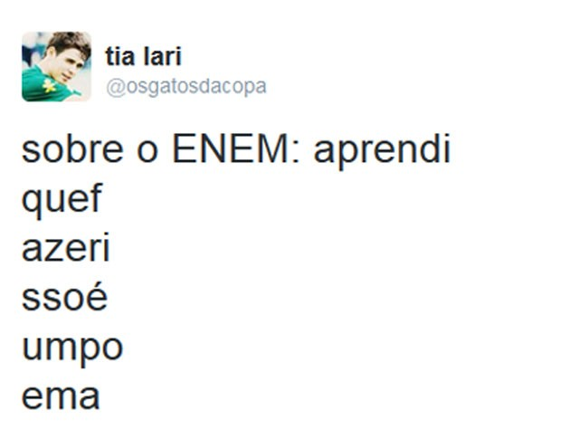 meme enem 2015 (Foto: Reprodução/Twitter)