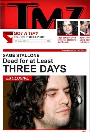 Sage Stallone, em foto divulgada pelo site TMZ (Foto: Reprodução)