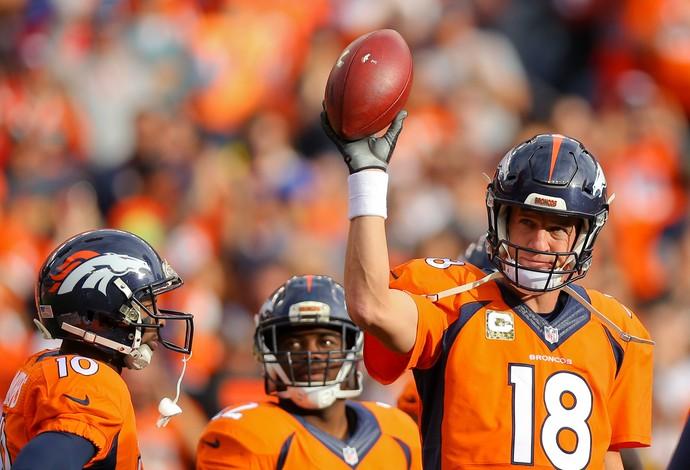 Peyton Manning, recorde de jardas lançadas, Kansas City Chiefs x Denver Broncos, NFL (Foto: Getty Images)